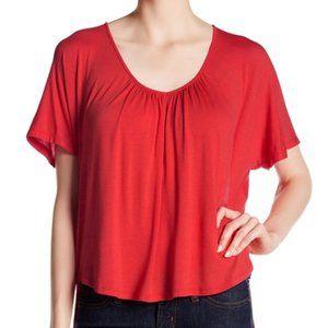 *3/$18*Lush Short Sleeve Gathered Blouse